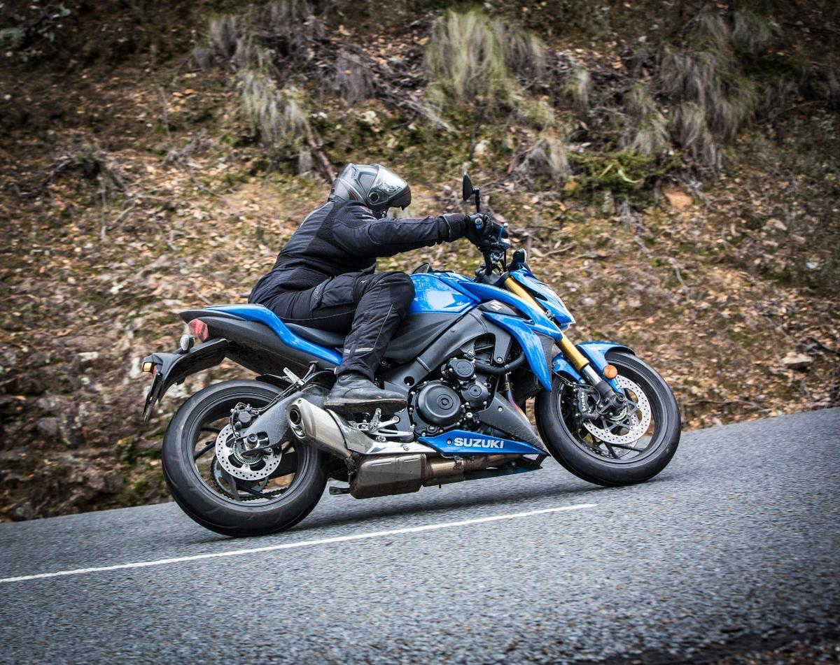 Suzuki GSX-S1000:standard exhaust system dulls the sound of that big Gixxer motor a little, but the induction sound keeps things exciting and involving from the rider's seat
