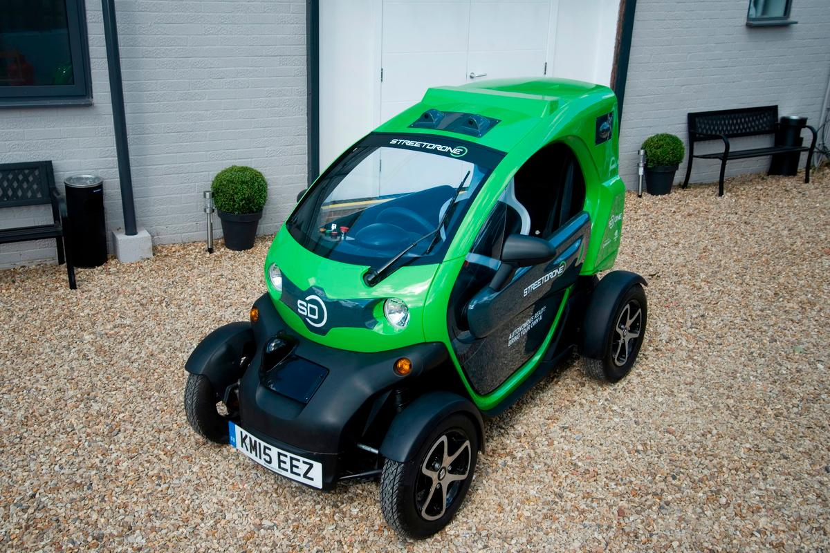 StreetDrone takes the Renault Twizy, and kits it out with full drive-by-wire systems, plus the cameras, sensors and open-source software to make it a self-driving research platform