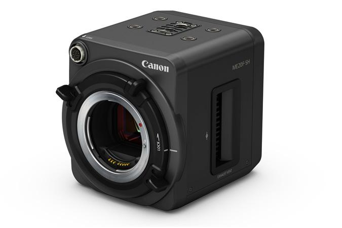 The ME20F-SH comes with an EF mount for compatibility with Canon's interchangeable EF glass
