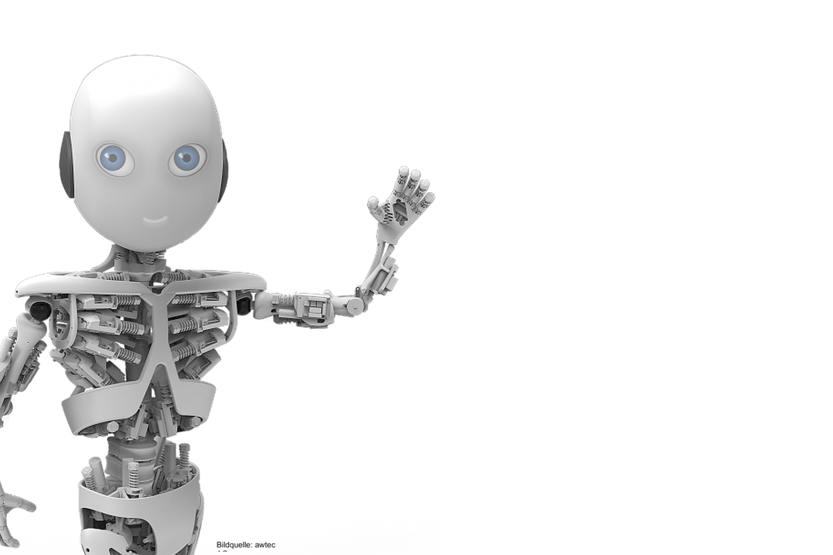 "The University of Zurich's Artificial Intelligence Laboratory is building a robot toddler called ""Roboy"""