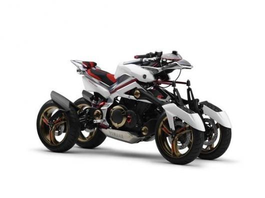 Yamaha Tesseract hybrid four-wheeled motorcycle