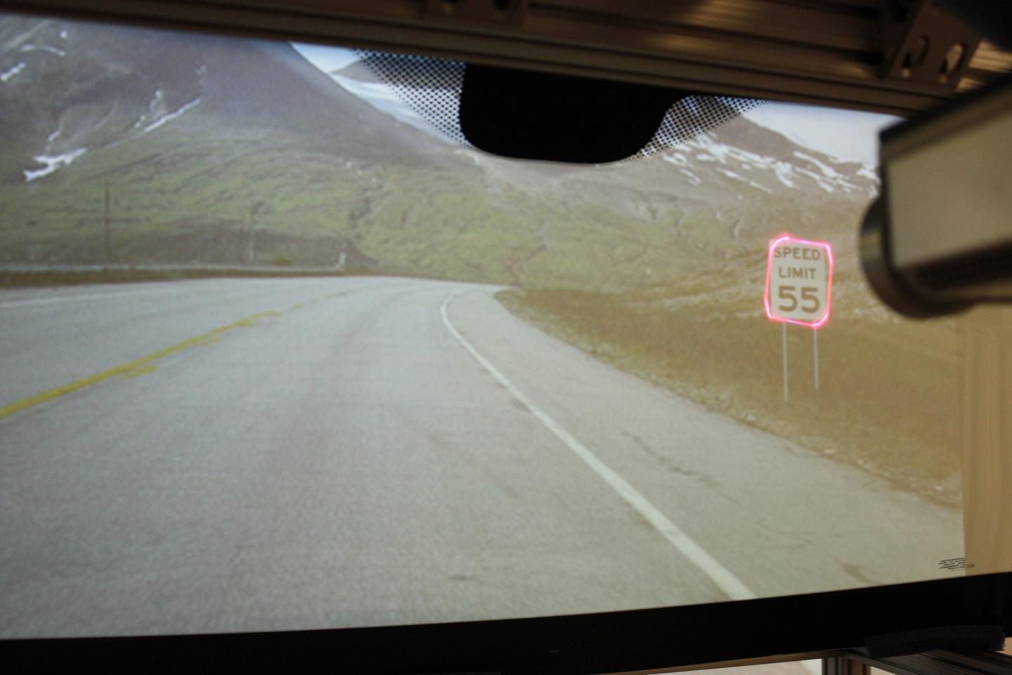 The system could be used to bring speed restrictions to the attention of the driver