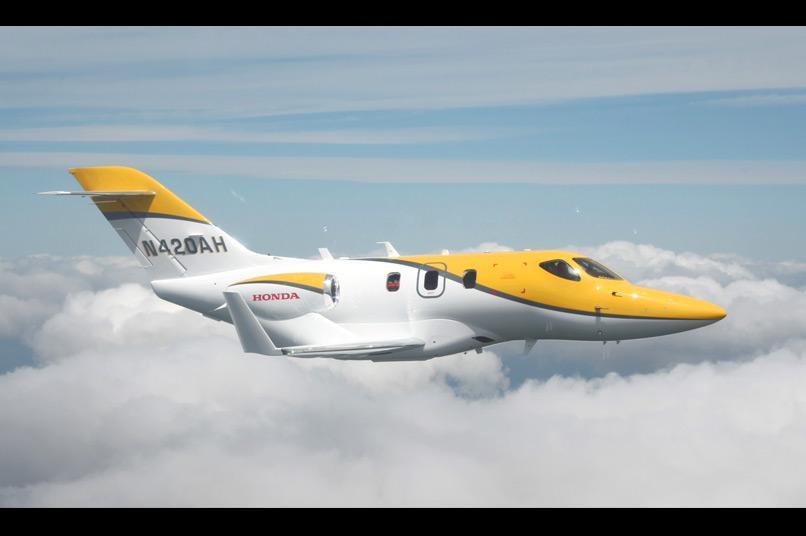 The HondaJet executive light aircraft
