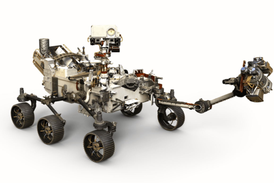 Artist's rendering of the Mars 2020 rover - NASA has narrowedthe list of potential landing sites down to three