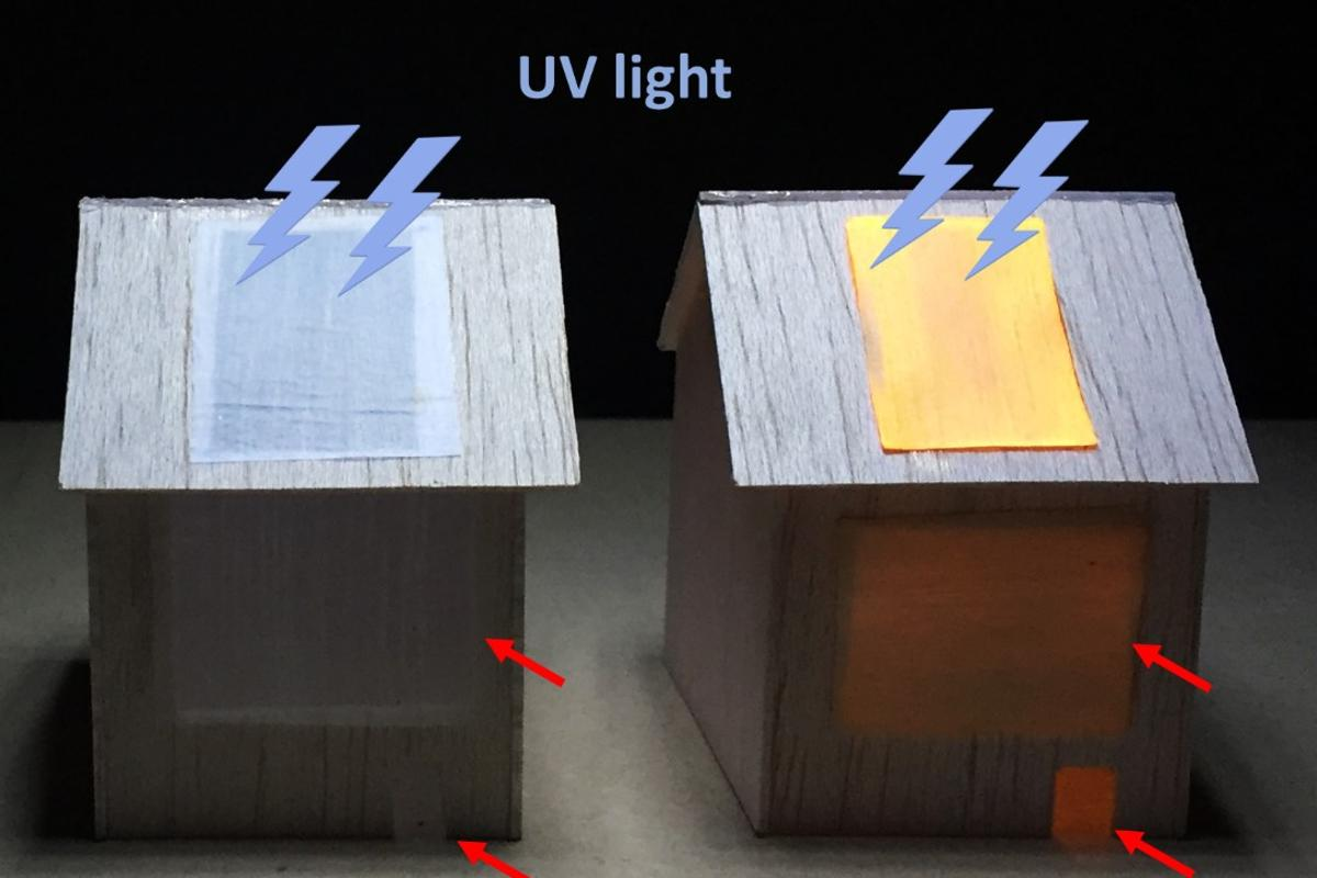 Researchers have demonstrated the potential of luminescent wood by using it to light up the interior of a toy house