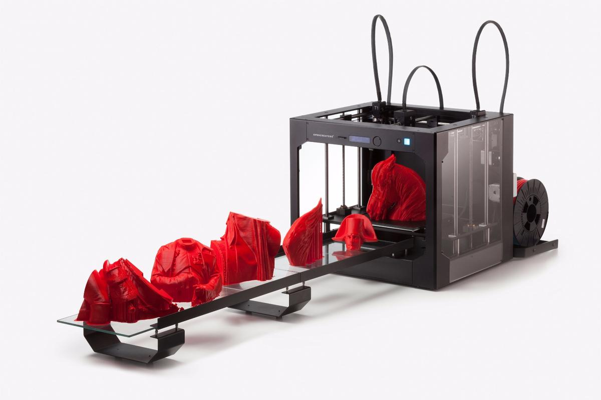 The BS210 fused filament printer from Opencreators can operate without supervision for up to 24 hours