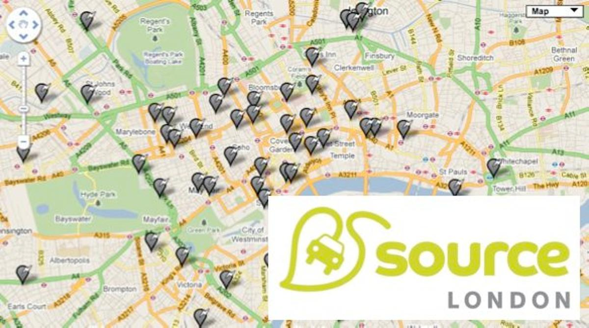 The Source London program will allow EV-owners to charge their vehicles at any of 1,300 city-wide charging stations