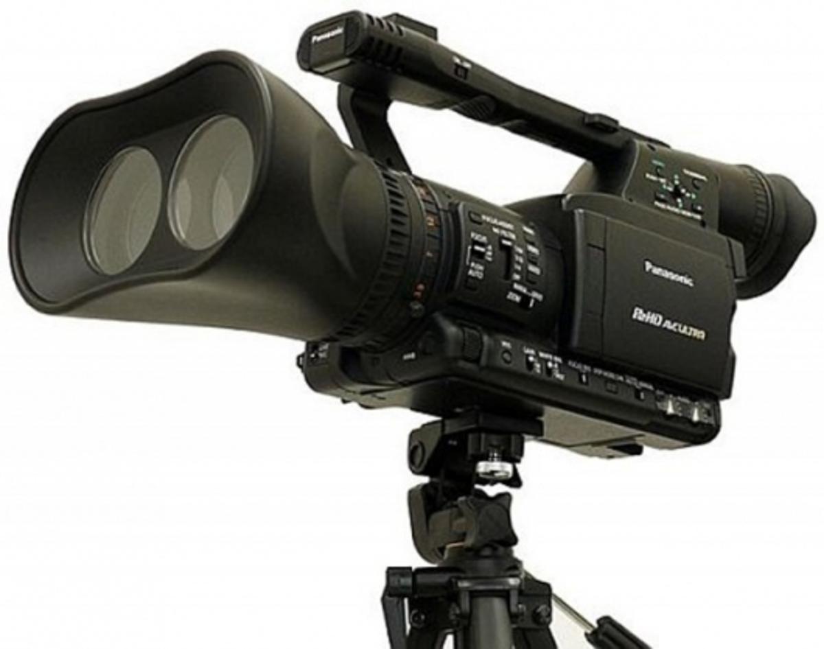 A conceptual model of the proposed Panasonic P2 3D camera