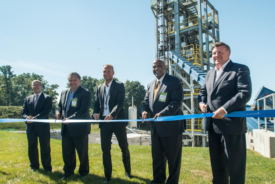 On 20 September 2016, Lockheed Martin executives officially open the new waste-to-energy plant at the firm's Owego, New York, aircraft manufacturing facility.