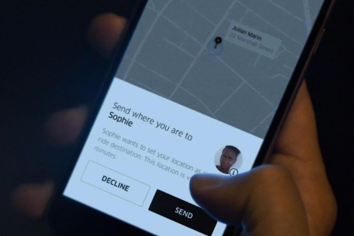 Uber users can now set friends in their contact list as their destination