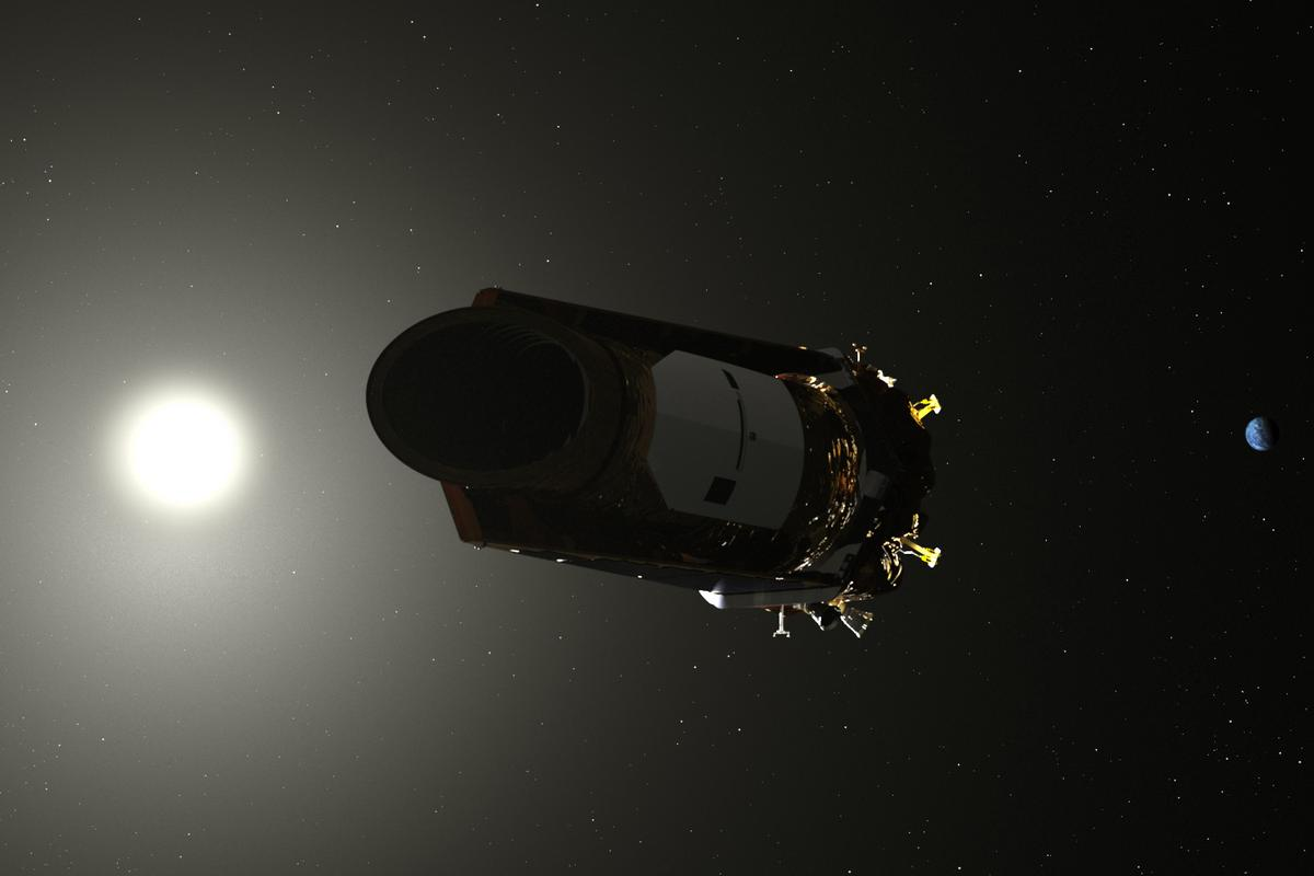 Artist's depiction of the Kepler Space Telescope