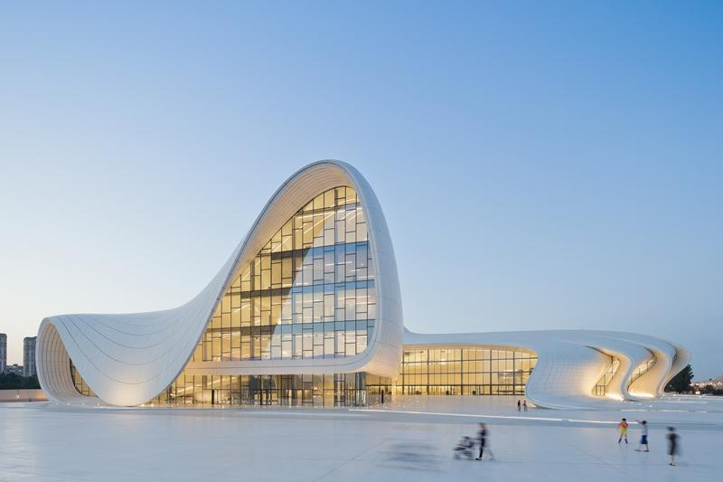 Zaha Hadid and Patrik Schumacher's Heydar Aliyev Center in Baku, Azerbaijan