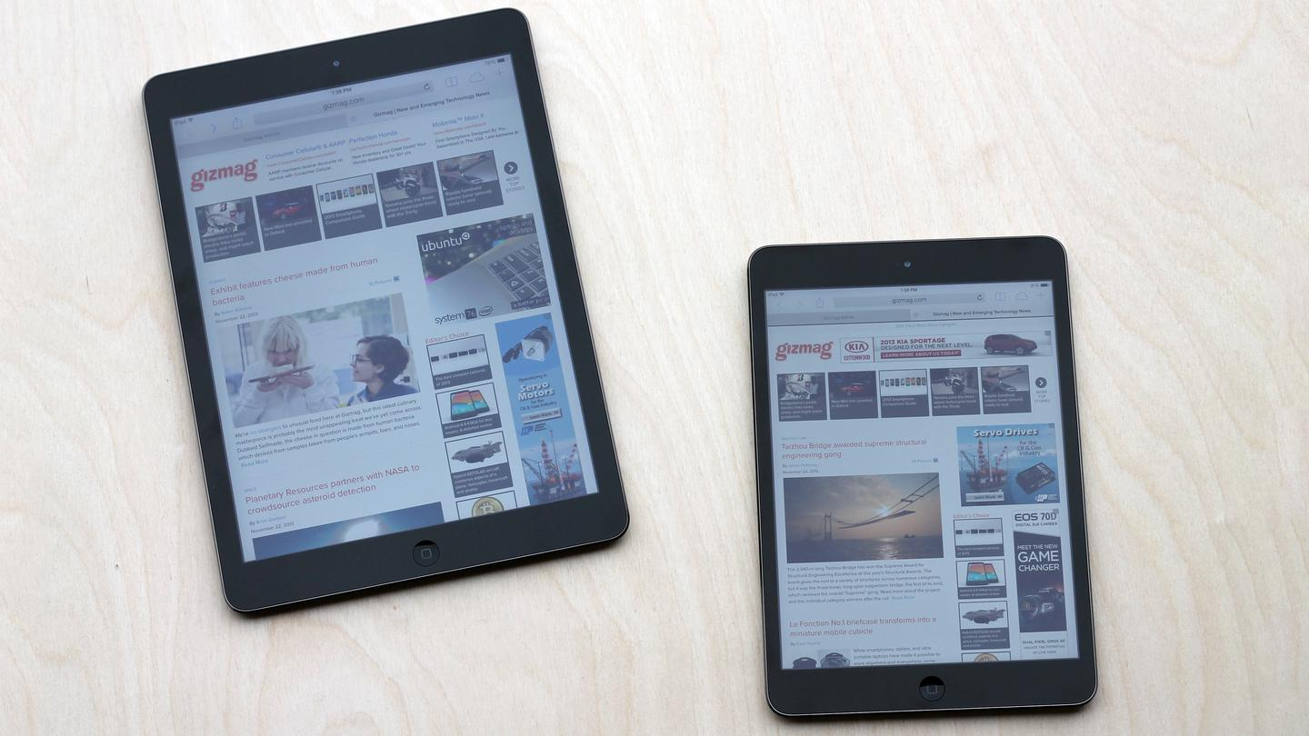 Gizmag goes hands-on, to help you choose between the iPad Air and iPad mini with Retina Display