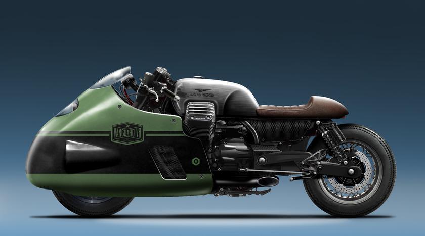 Moto Guzzi V8 replica: Can hipsters make the dustbin fairing