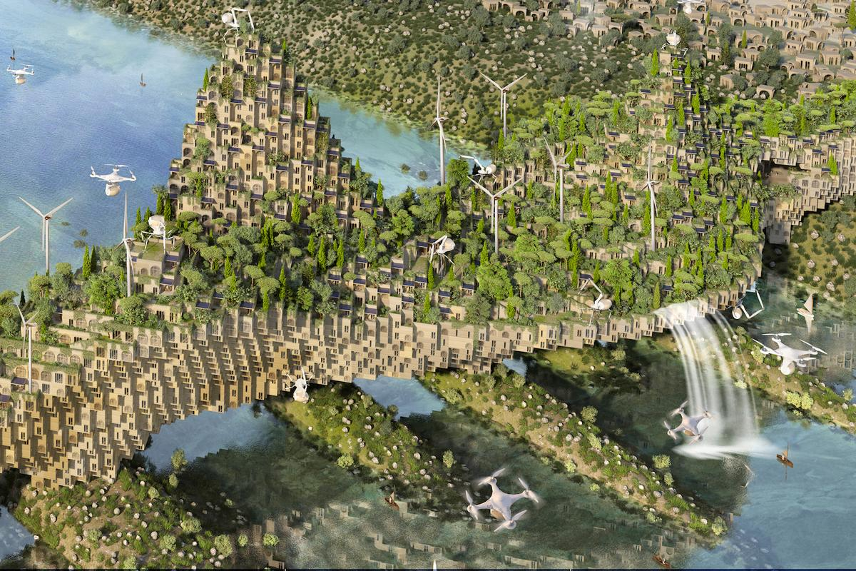 The 5 Farming Bridges proposal was designed for the Rifat Chadirji Prize for Architecture competition