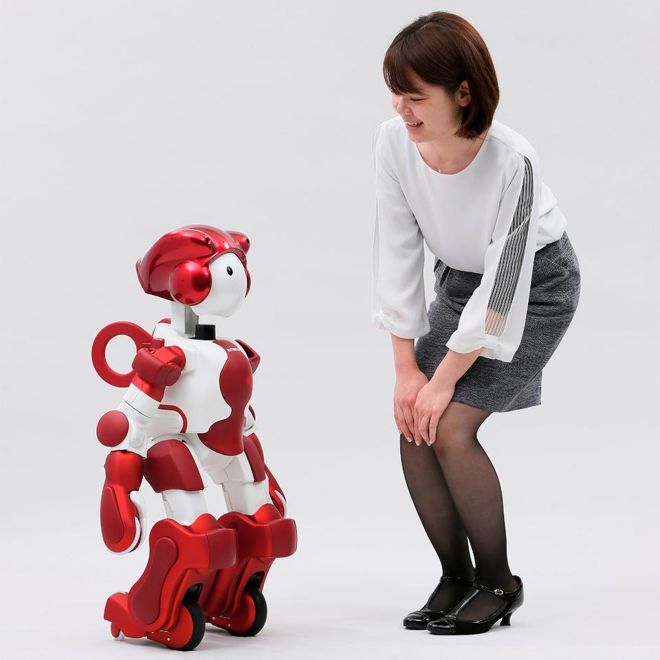 EMIEW3 is 90 cm tall, and weighs just 15 kg