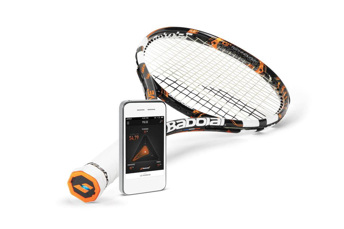 The Babolat Play Pure Drive sensor-packed racket and mobile device app