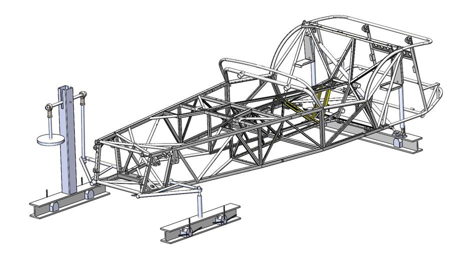 A detailed image of the chassis that Caterham may offer as an option in 2017