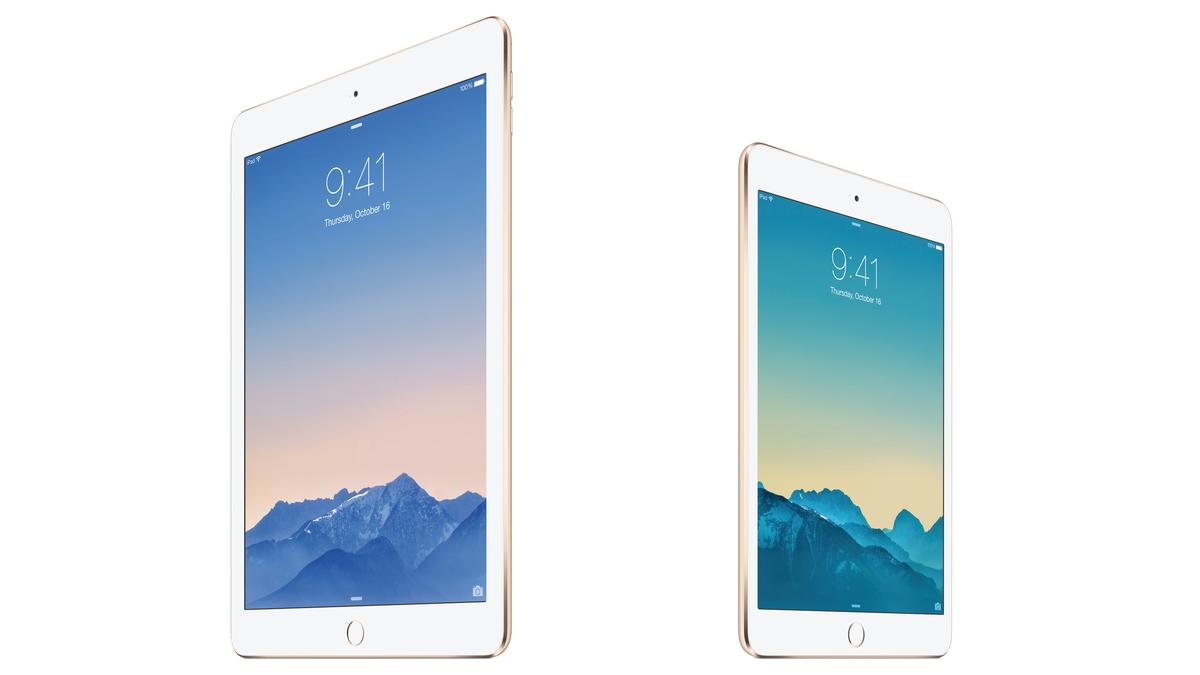 Today Apple pulled back the curtain on the iPad Air 2 (left) and iPad mini 3