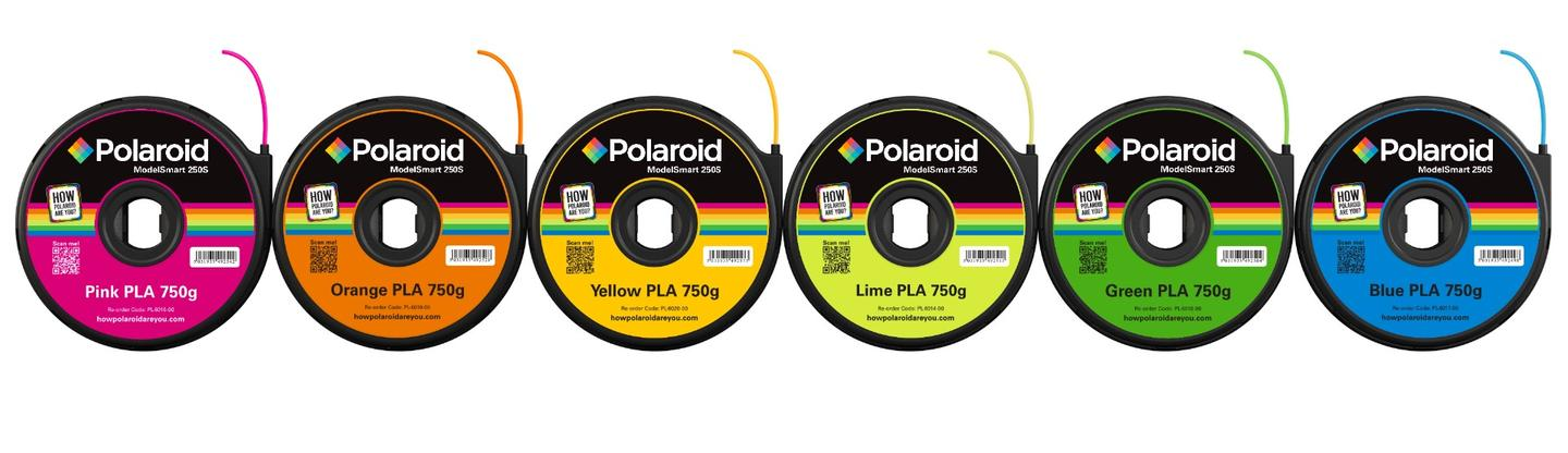 Polaroid's own 3D printer filament is available in nine colors