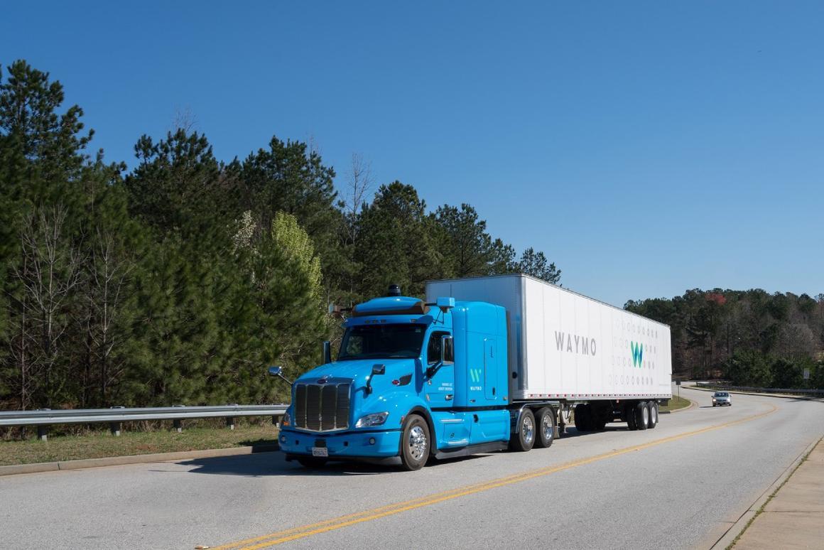 Waymo's self-driving trucks are ready to haul cargo to Google's data centers in Atlanta, Georgia