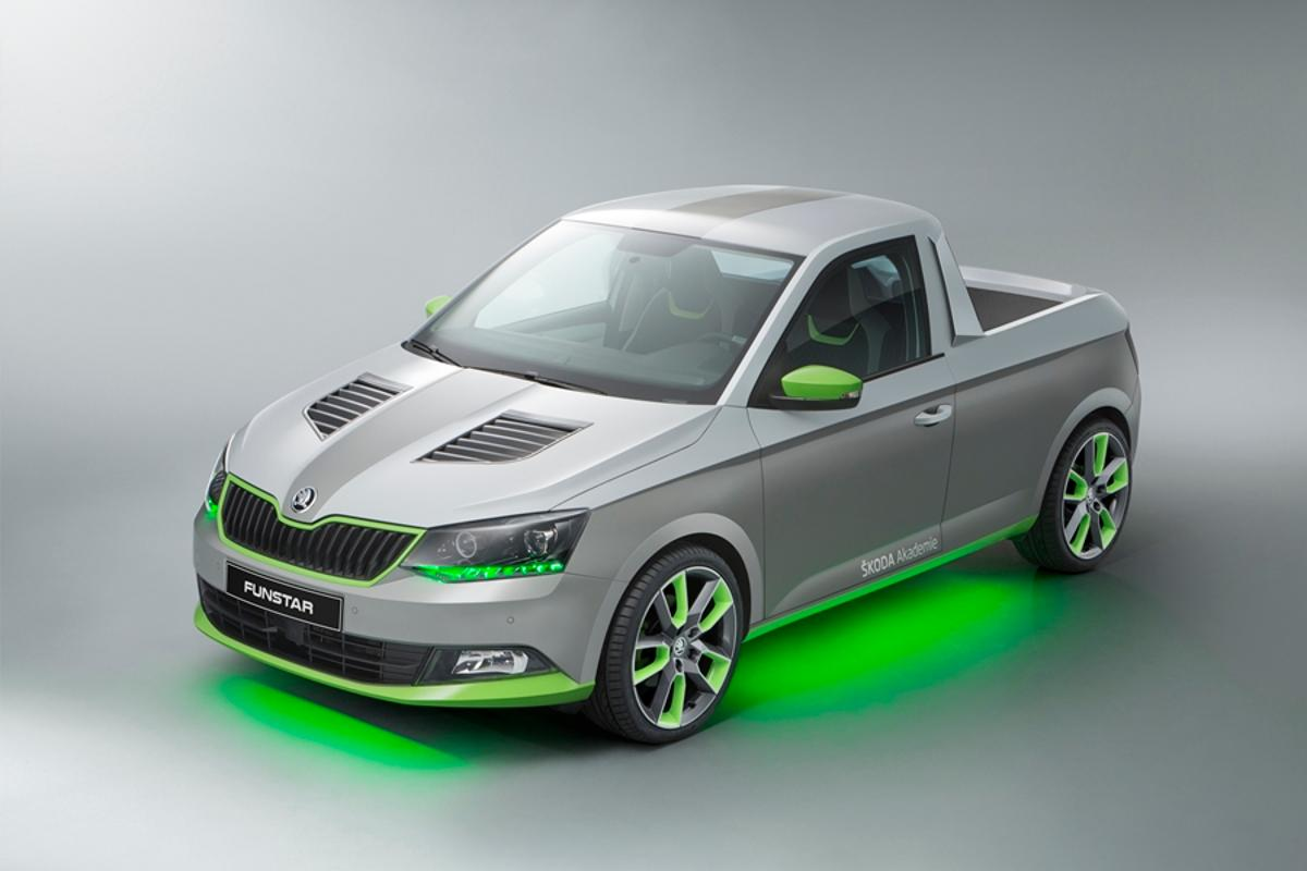 The Skoda Funstar concept is powered by a 1.2-L TSI petrol engine with 90 kW (121 hp) of power
