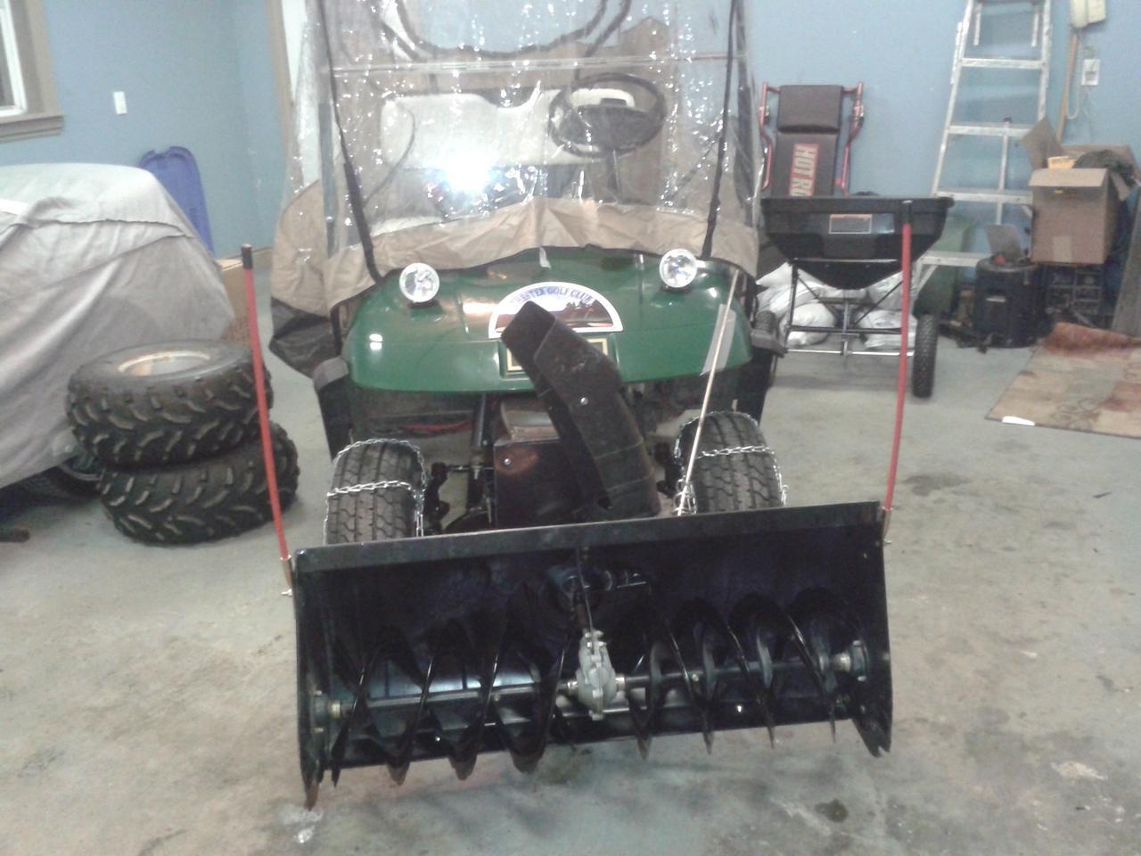 "Dubbed ""Snowpig"", Baker built the snow blower as an alternative to an ATV/utility vehicle"