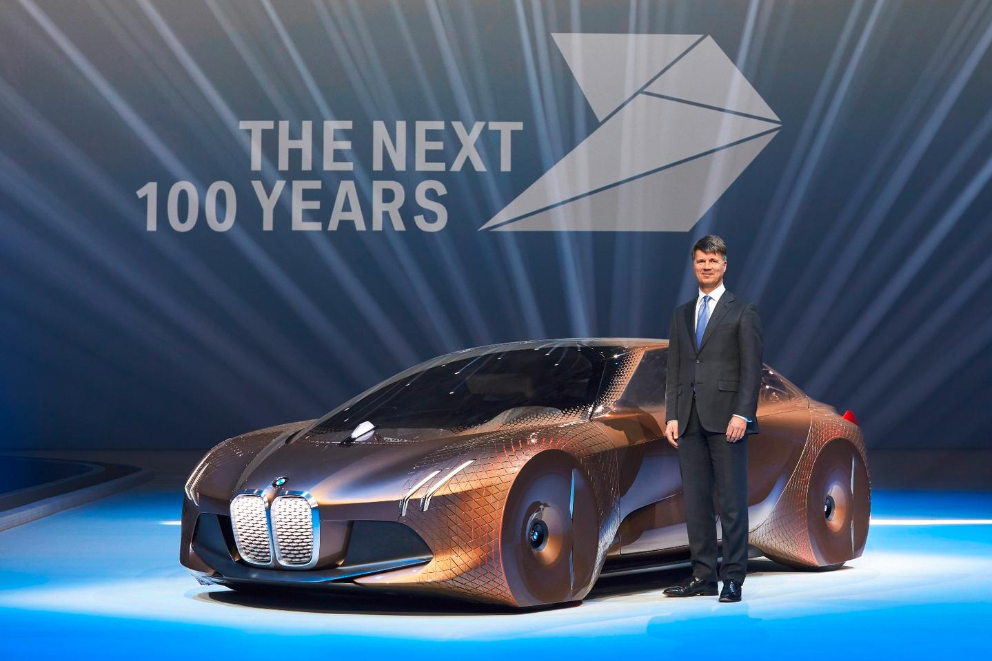 Harald Krüger, Chairman of the Board of Management of BMW AG with the Vision Next 100