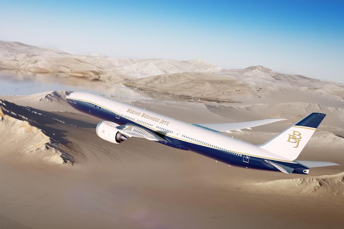 The BBJ 77X has a range of 11,645 nautical miles (21,570 km)