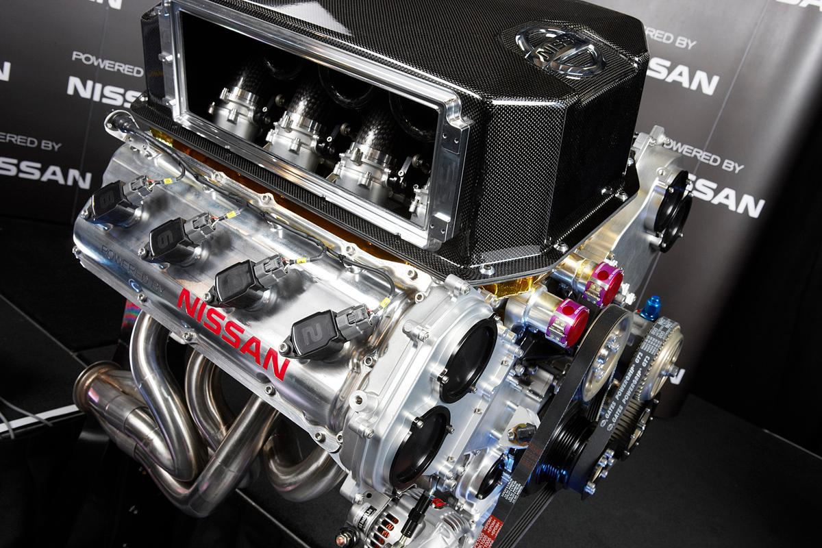 Nissan introduced the Altima V8's engine last month
