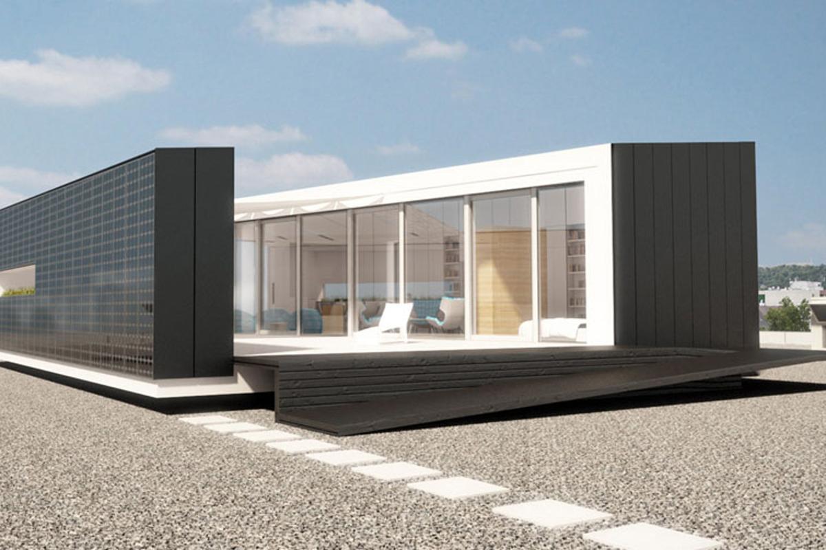 Budapest University students have created an innovative solar-powered prefab home for the 2012 European Solar Decathlon