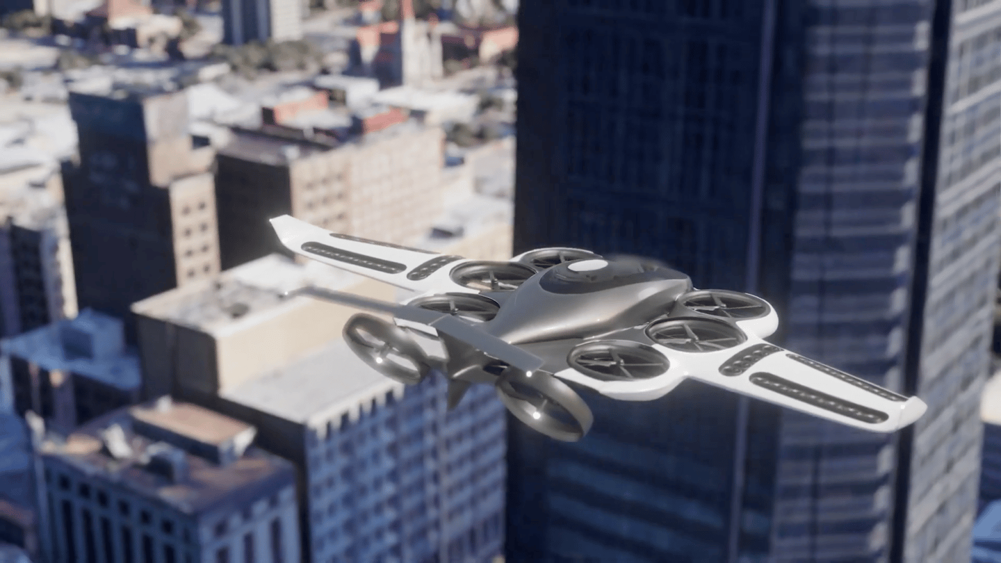 The Soar, a lift/cruise design with tilting rear props for horizontal winged flight