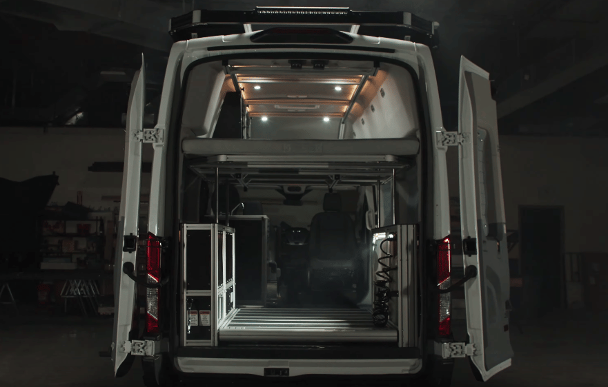 VanDoIt's modular conversions rely on individual function modules and lift-away beds for ultimate flexibility