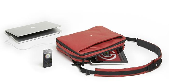 The Phorce is a smart bag that can carry and charge all your devices