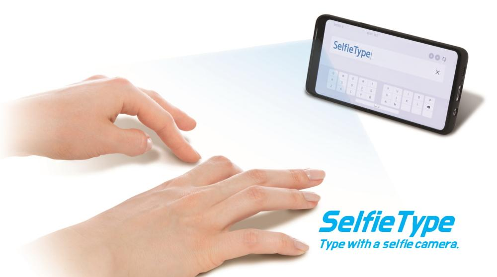 SelfieType lets users type without a physical keyboard