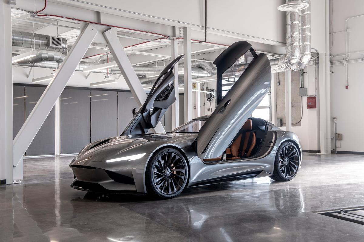 Karma's 1,100-hp SC2 concept debuted at the 2019 LA Auto Show