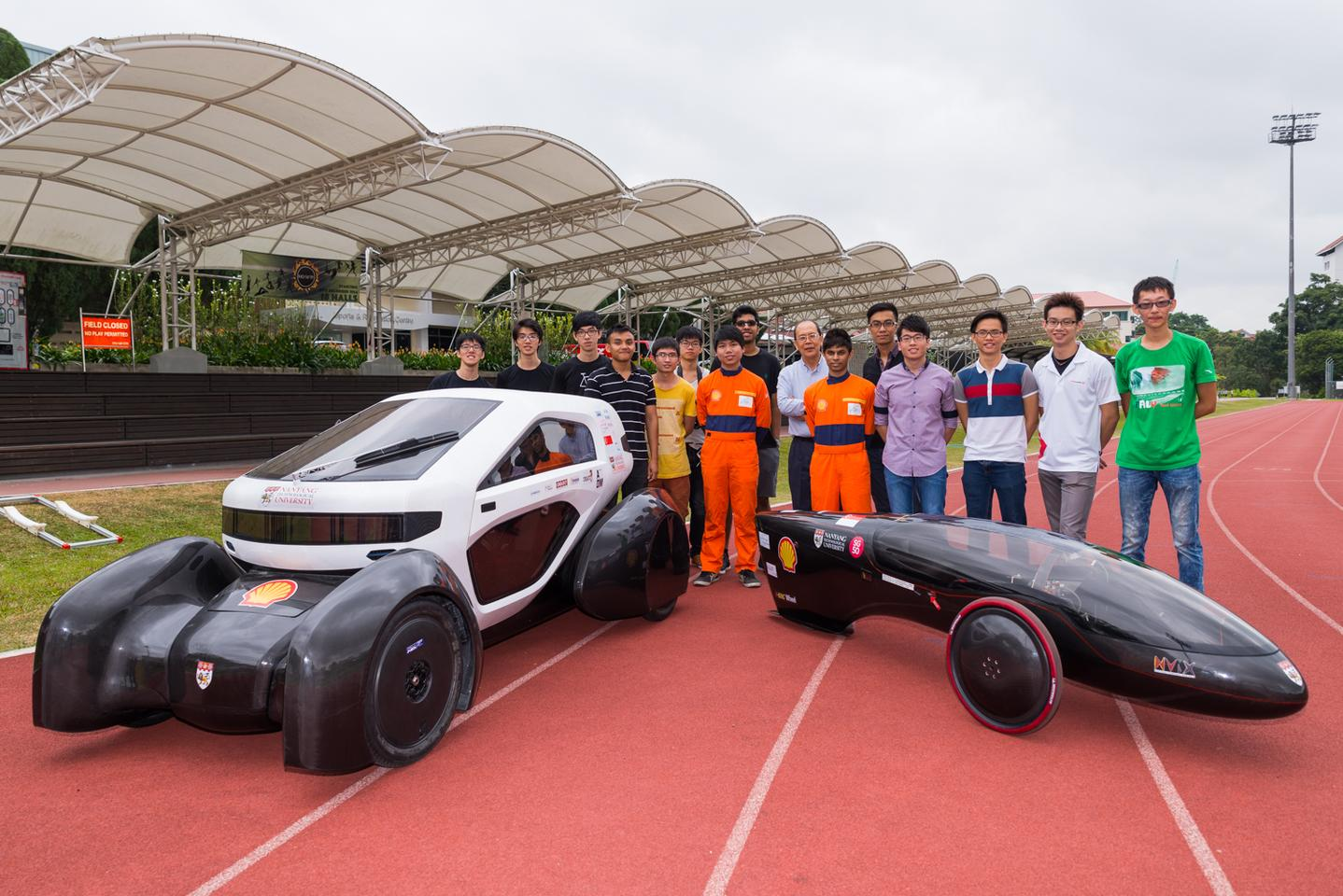 The NV 8 weighs 120 kg (265 lb) without a driver, while the NV 9 weighs 42 kg (93 lb) (Photo: NTU)