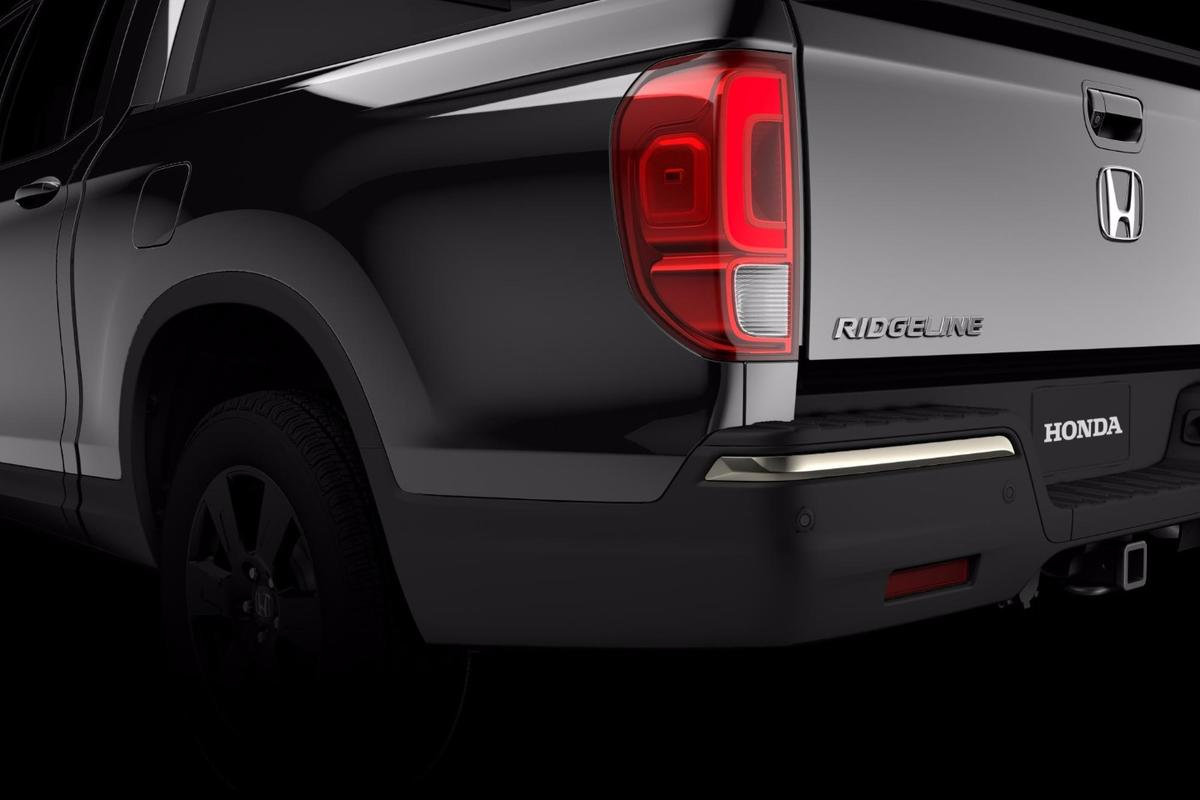 A teaser image of the 2017 Honda Ridgeline