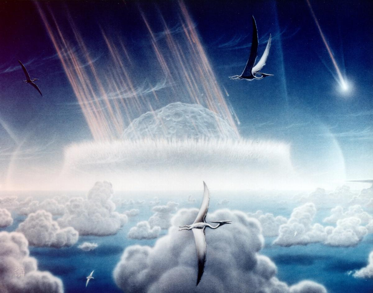 An artist's impression of the asteroid that eliminated Earth's dinosaurs and, according to a new study, most of its mammals too