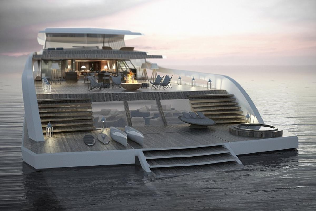 "The Pastrovich X-Easy concept yacht is designed for a ""beach house"" type lifestyle"