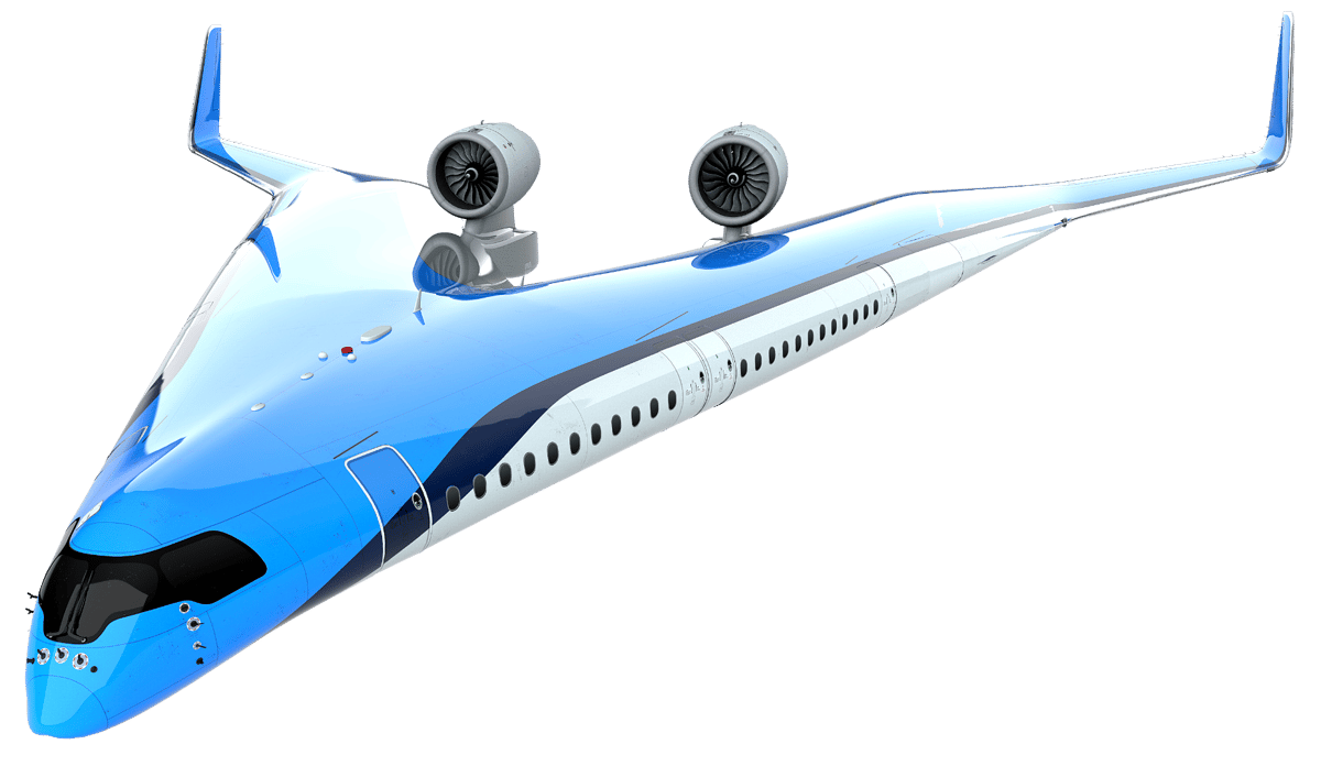 The Flying-V concept is reckoned to use 20 percent less fuel than an Airbus A350-900