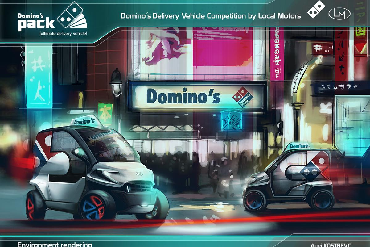 The Domino's Pack delivery vehicle concept