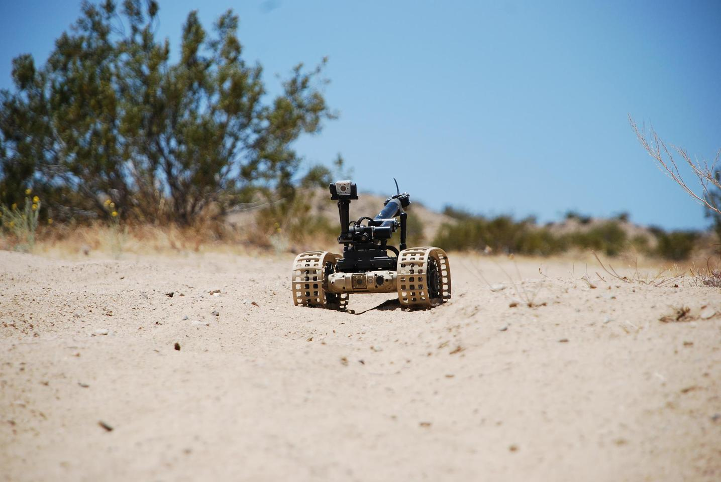 The Dragon Runner 10 can be fitted with tracks or wheels dependent on terrain