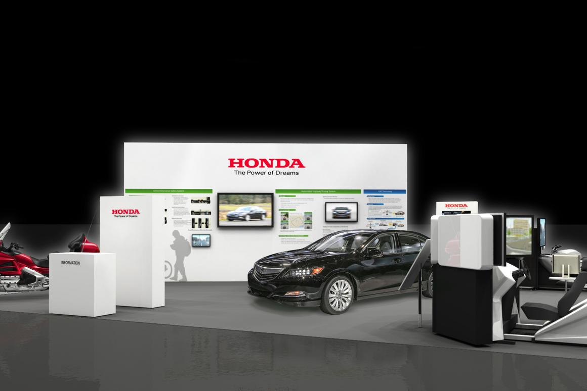 Honda's booth at the ITS World Congress