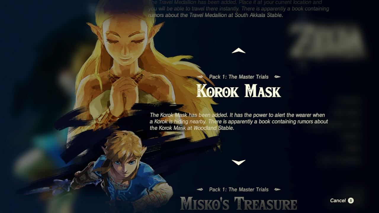 How to find the Korok Mask in Zelda: BOTW's first DLC pack