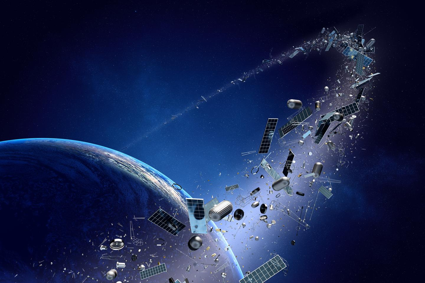 A laser/telescope system may be able to de-orbit smaller pieces of orbital debris (Image: Shutterstock)