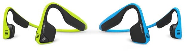 AfterShokz Trekz Titanium bone conduction headphones come in either Ocean or Ivy colors