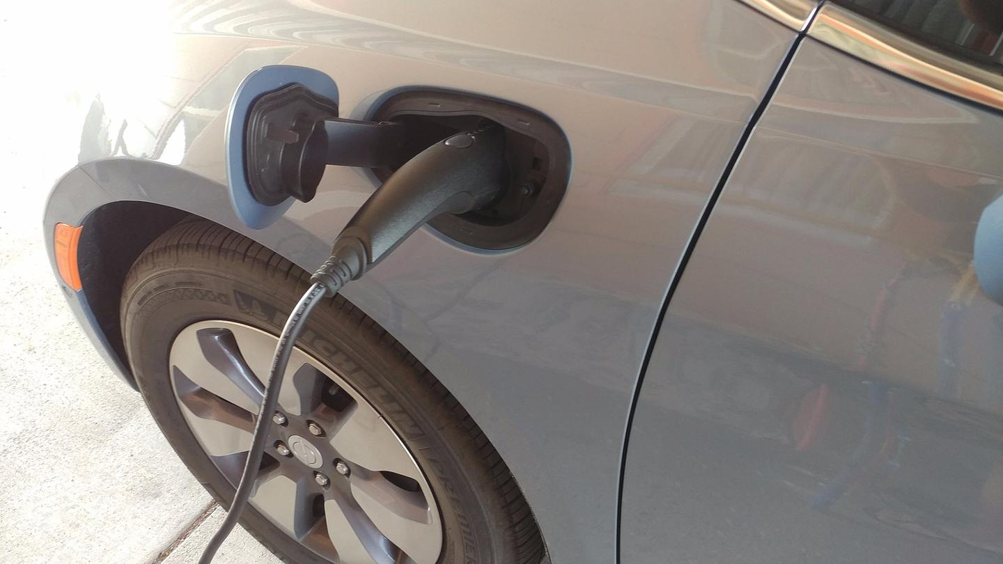 When plugged into a 120-volt outlet, the 2017 Chrysler Pacifica Hybrid took about 9 hours to charge to full