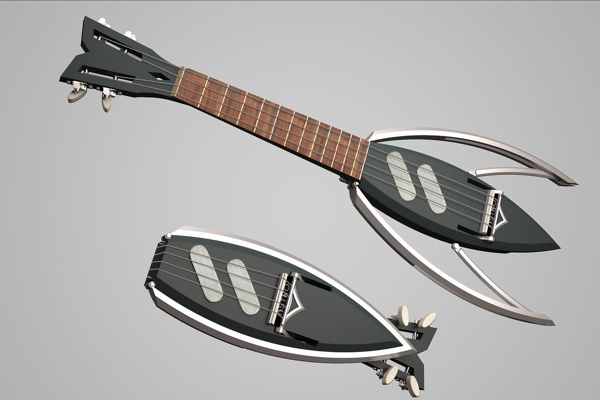 The Astro folding ukulele project is currently raising production funds on Kickstarter