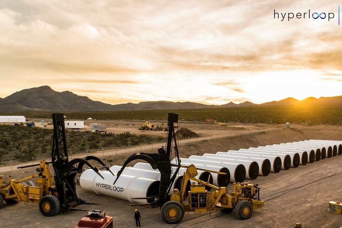 Hyperloop One's test facility north of Las Vegas